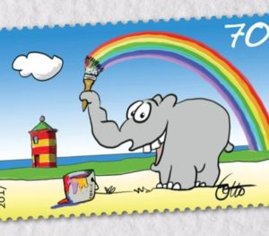 Good Fact – Ottifant als Briefmarke
