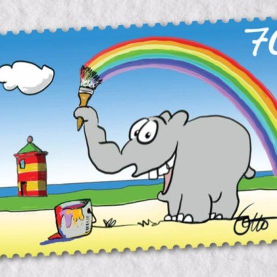 Good Fact - Ottifant als Briefmarke