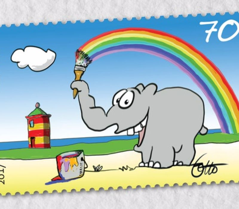 Good Fact – Ottifant als Briefmarke