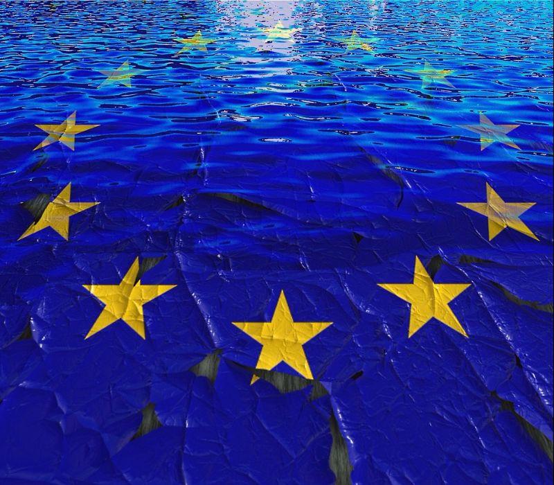 Junge Deutsche stehen zu Europa